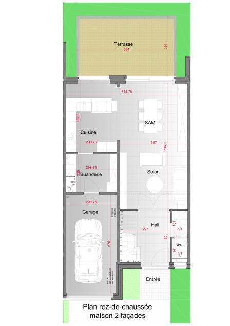 plan de maison 2 facades